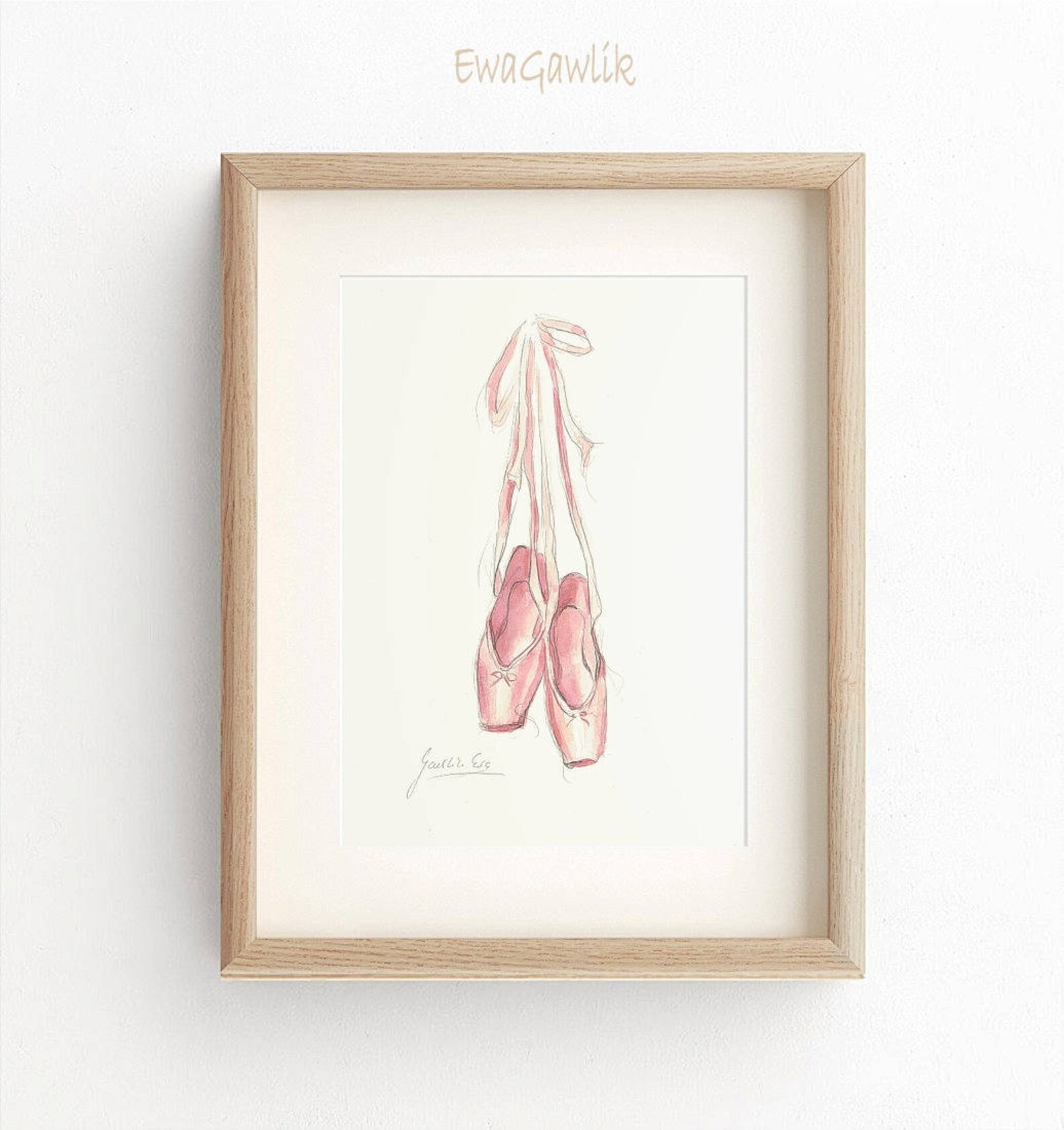 ballet points shoes, points shoes print, points watercolor, pink ballet shoes, ballet shoes prints, nursery room décor, girl roo