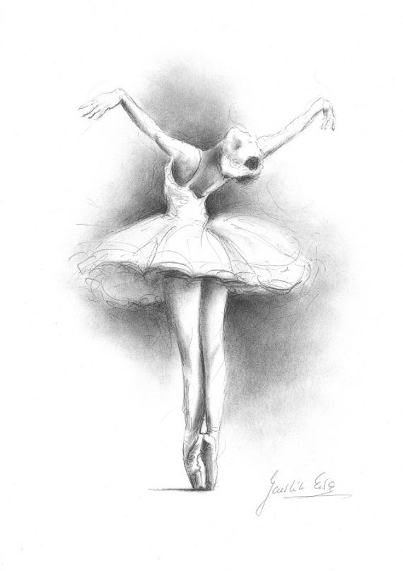 Ballerina Druck, Ballerina Skizze, Druck der Zeichnung, Bild Ballerina, Balletttänzerin, Ballerina Wandkunst, Mädchen Zimmer Dekor, Geschenk für