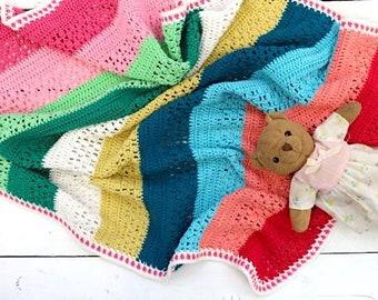 Crochet Blanket Pattern - Isak's Blanket - UK and US terms - PDF file - crochet pattern, baby blanket