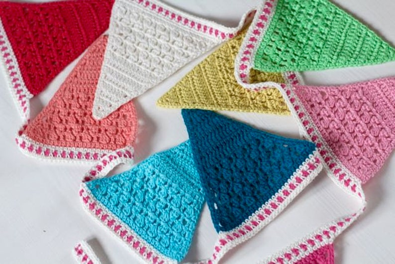 Crochet Pattern  Isak's Bunting  UK and US terms  PDF image 0