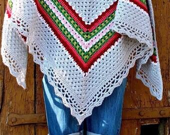Crochet Shawl Pattern - Nordic Shawl - Crochet Shawl UK, US & Swedish terms,  instant download PDF pattern