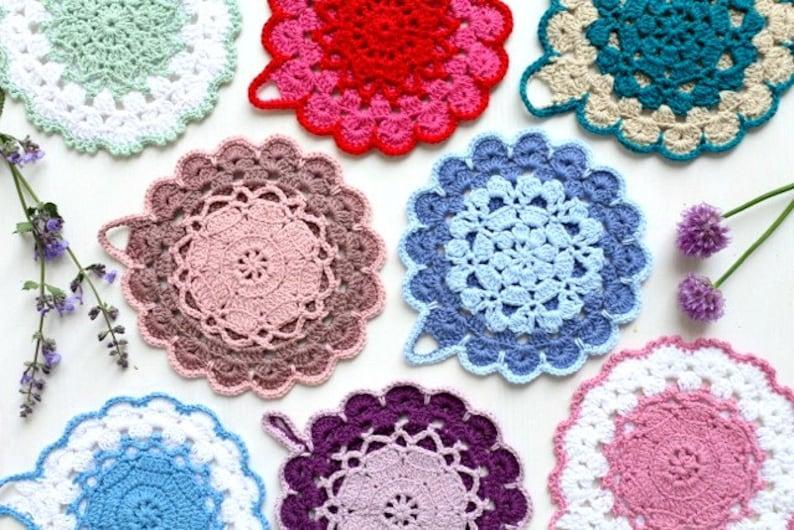 Crochet Pattern Vintage Crochet Potholder Pattern Us Uk Etsy
