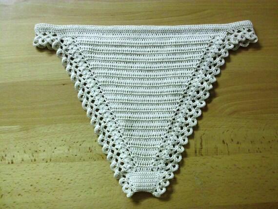 Crochet Thong Pdf Pattern Lacy Lingerie Etsy