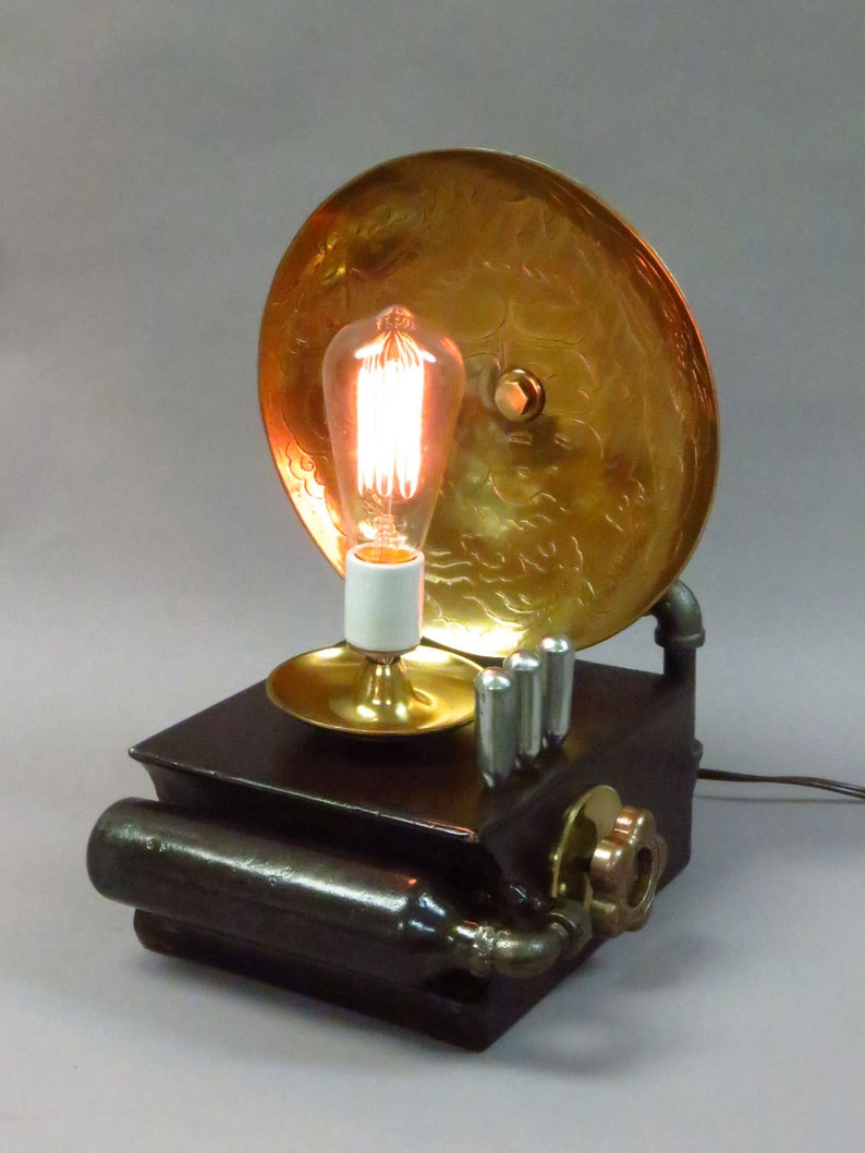 Dragon Lamp with Edison Bulb image 0
