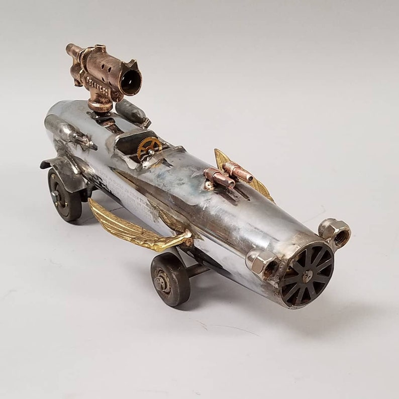 Winged Thunder  Steampunk Dieselpunk Car Truck Sculpture image 0
