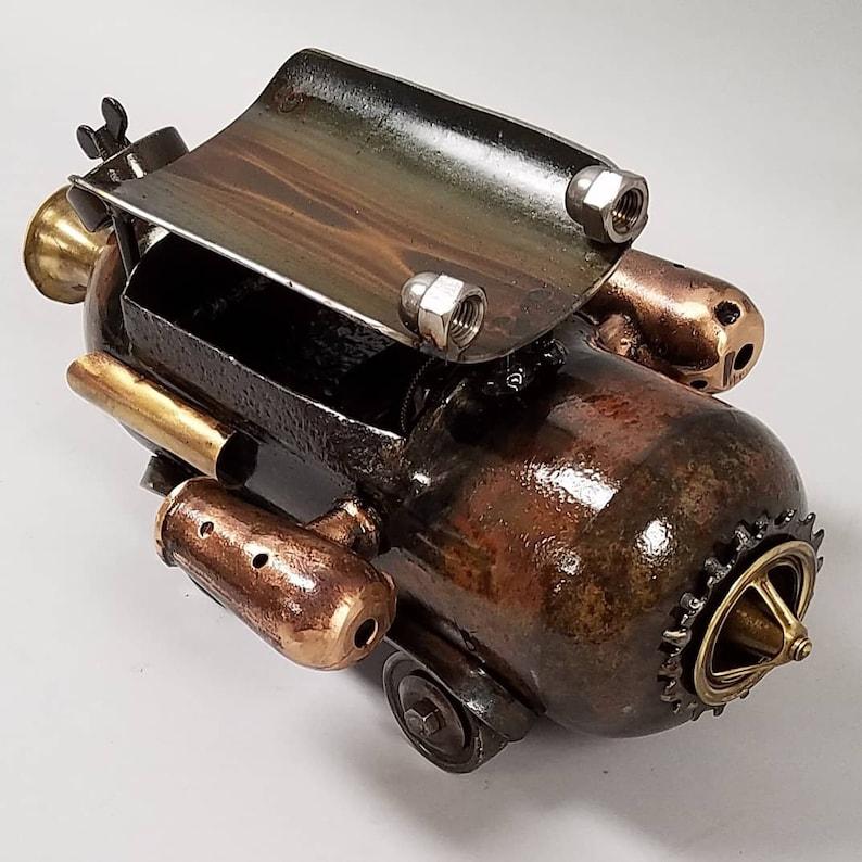 Rum Runner  Steampunk Dieselpunk Car Truck Sculpture in image 0