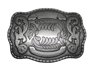 "Western Floral Pattern Buckle - Fits All 1.5"" Wide Belts"