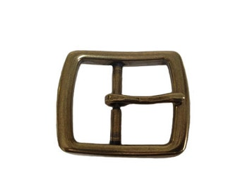 """Basic Rectangle Belt Buckle - Available in Antique Gold - Fits All 1.5"""" Wide Belts"""