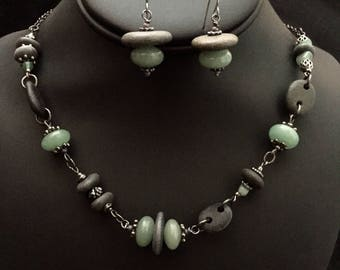 Lake Superior Stone Necklace Set
