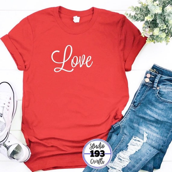 14fada21ab3 Valentine s Day Love T-Shirt 100% Cotton Unisex Graphic T
