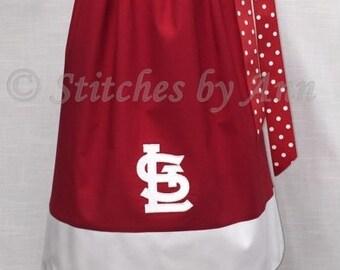 St Louis Cardinals Ribbon * Pillow Case * Dress - Red