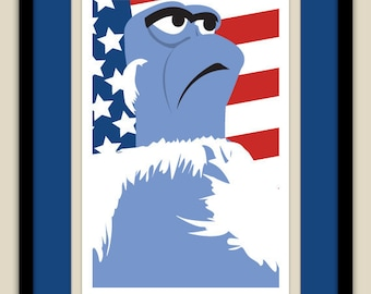 The Muppets - Sam the Eagle 12x18 Poster