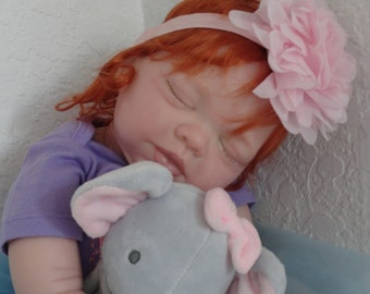 Reborn Baby Amber Doll -life like sleeping red head- adorable!