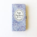 Jane Austen Gift, Pride and Prejudice Phone Case, Jane Austen iPhone Case, Book Phone Case, Book iPhone Case, iPhone X, 8, Wallet Phone Case