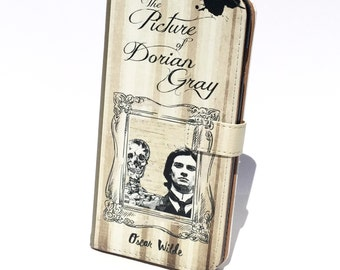 Book phone /iPhone flip Wallet case Picture of Dorian Gray for iPhone X 8 7 6 5, 6 & 7 plus, Samsung Galaxy S9 S8 S7 S6 S5 Note 5 7 8 9 LG