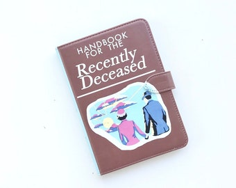 Kindle Paperwhite Case - Beetlejuice - Handbook for the Recently Deceased- Genuine Leather
