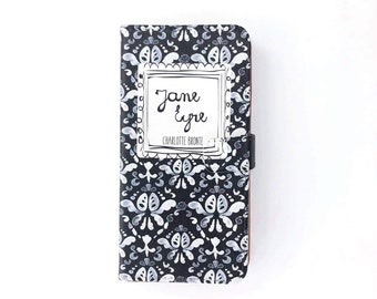 Book phone /iPhone flip Wallet case- Jane Eyre for iPhone X 8 7 6, 6 7 & 8 plus, 5 5s 5c, Samsung Galaxy S10  S9 S8 S7 S6 Note 5 7 8 9