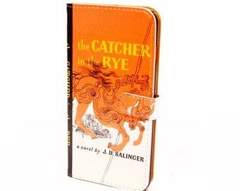 Book phone /iPhone flip Wallet case- Catcher in the Rye for  iPhone X, 8, 7, 6, 6 7 & 8 plus, 5 Samsung Galaxy S9 S8 S7 S6 Note 5 7 8 9 LG