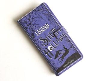 Legend of Sleepy Hollow, Washington Irving, iPhone Case, Book Phone Case, Book iPhone Case, iPhone X, 8, 7 Wallet Phone Case