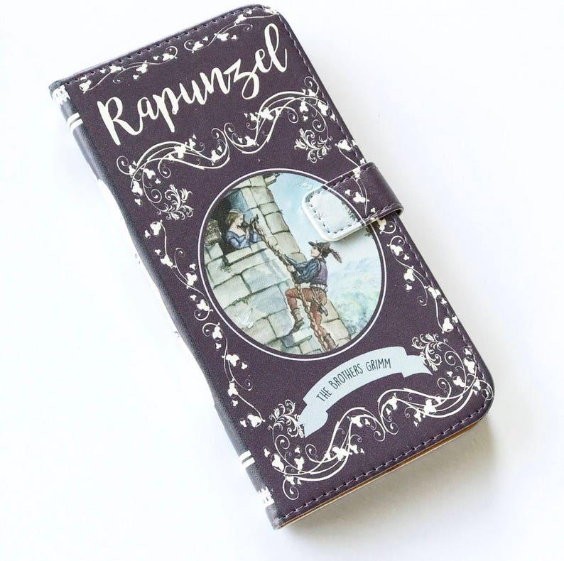 the latest 1f2d6 c7701 Rapunzel Gift, Rapunzel Phone Case, Rapunzel iPhone Case, Book Phone Case,  Book iPhone Case, iPhone 8, 7, Wallet Phone Case