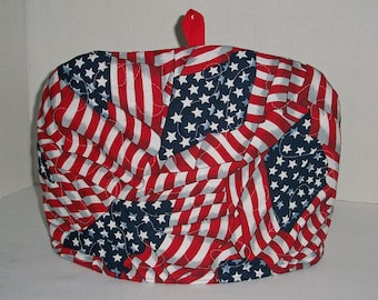 USA Flag - Quilted Dome Tea Cozy