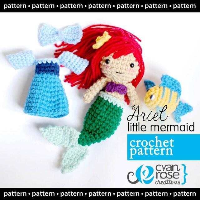Descarga Instantánea Ariel La Sirenita Patrón de Crochet | Etsy