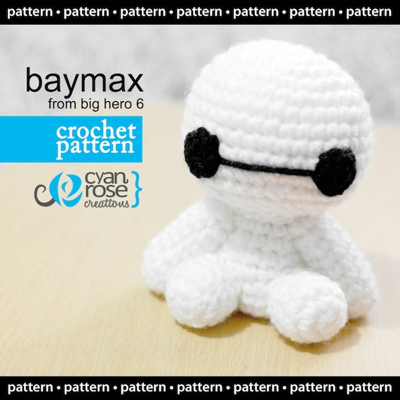 Descarga Instantánea Baymax Patrón de Crochet amigurumi | Etsy