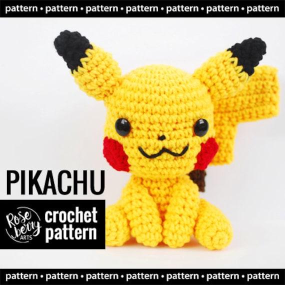 Pikachu Crochet Pattern Descarga Instantánea Pokemon | Etsy