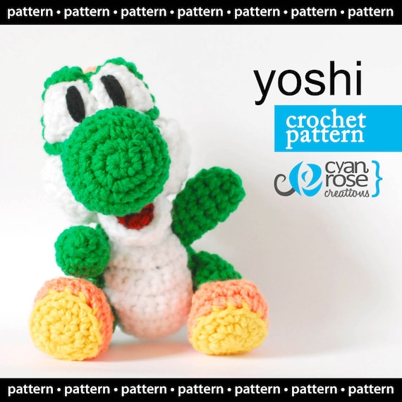 Yoshi Crochet Pattern Instant Download Yoshi From Woolly Etsy