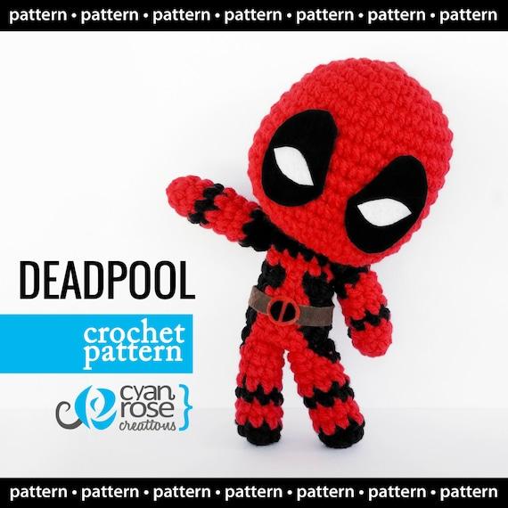 La Fee Crochette: Free Deadpool crochet pattern in French with a ... | 570x570