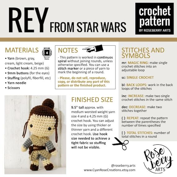 Rey de Star Wars Crochet Pattern Descarga Instantánea Rey | Etsy