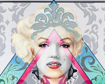 Marilyn Queen Of Diamonds - Marilyn Monroe Fine Art Print - 3 sizes-  by Ashley Bell