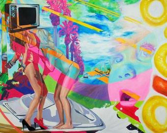 The Boob Tube - 16 x 20 canvas print by Ashley Bell