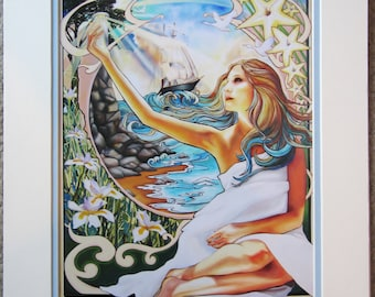 11x14 Ocean Art Nouveau Print