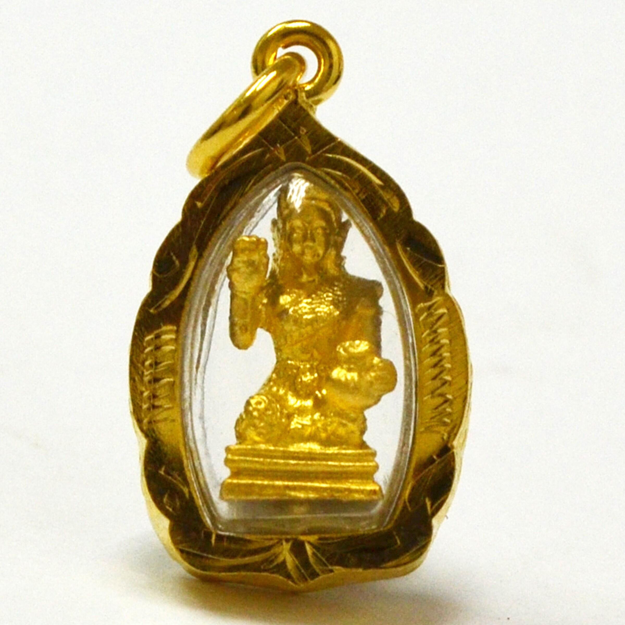 1.Naga  Brass Thai Amulet Monk Buddha  Powerful Magic Rich Wealthy bussiness