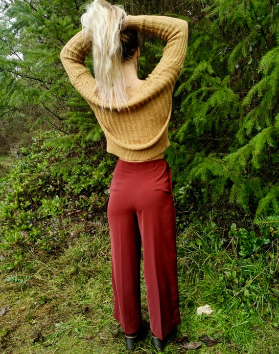 Authentic 1970s high waisted palazzo pants - image 3