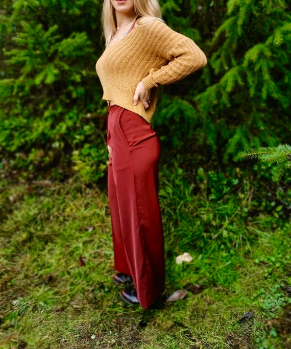 Authentic 1970s high waisted palazzo pants - image 4