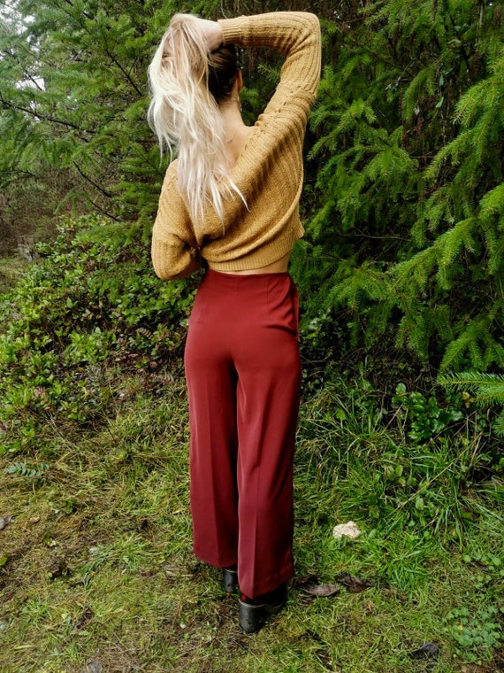 Authentic 1970s high waisted palazzo pants - image 2