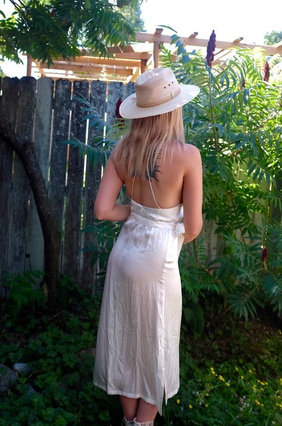 1990s white silk slip dress - image 4