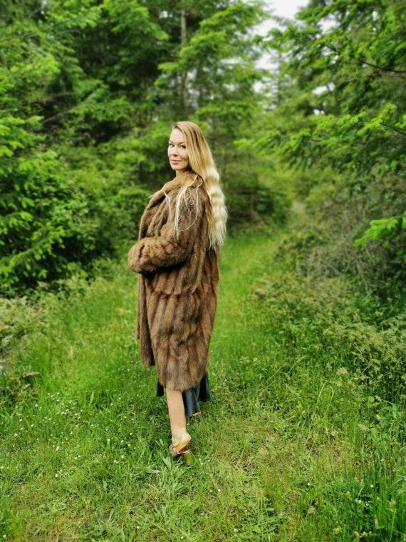 1960s glam Hollywood fox fur coat