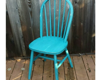 Beau Upcycled Vintage Wooden Chair, Thomasville Teal Chalk Paint And Clear Glaze  Wax Finish, Shabby Chic, Pick Up Only