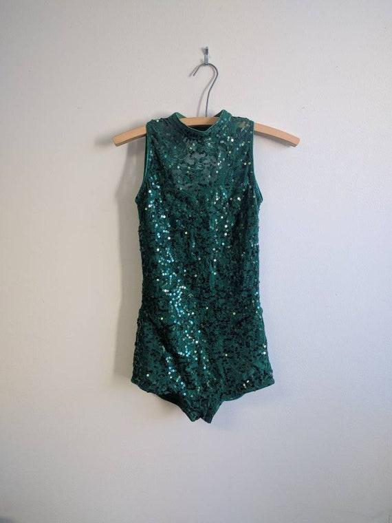 Vintage Dance Costume, Vintage Dark Green Dance C… - image 3