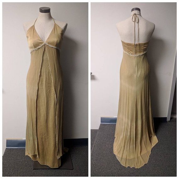 Vintage Clothing, Silk Evening Gown, Full Length E