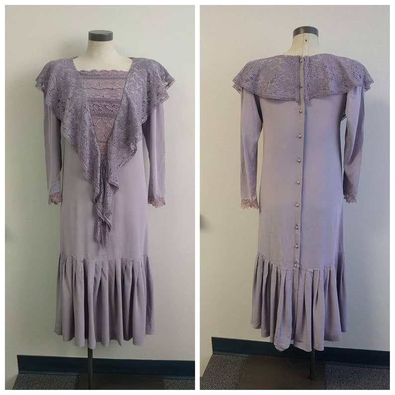 Marion Paroo Costume Ladies S Music Man Theatre Production Upcycled Steampunk Clothing Hand Dyed Purple Vintage Dress with Antique Lace