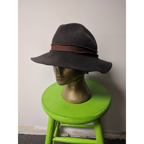 Vintage Steampunk Clothing, Ladies Brown Wool Hat,