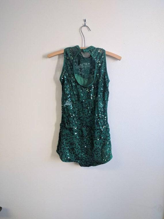 Vintage Dance Costume, Vintage Dark Green Dance C… - image 4