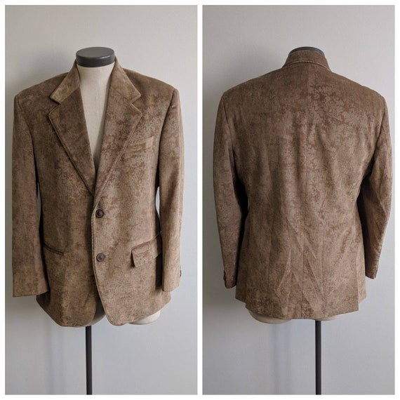 Vintage Clothing, Vintage Ladies Light Brown Velve
