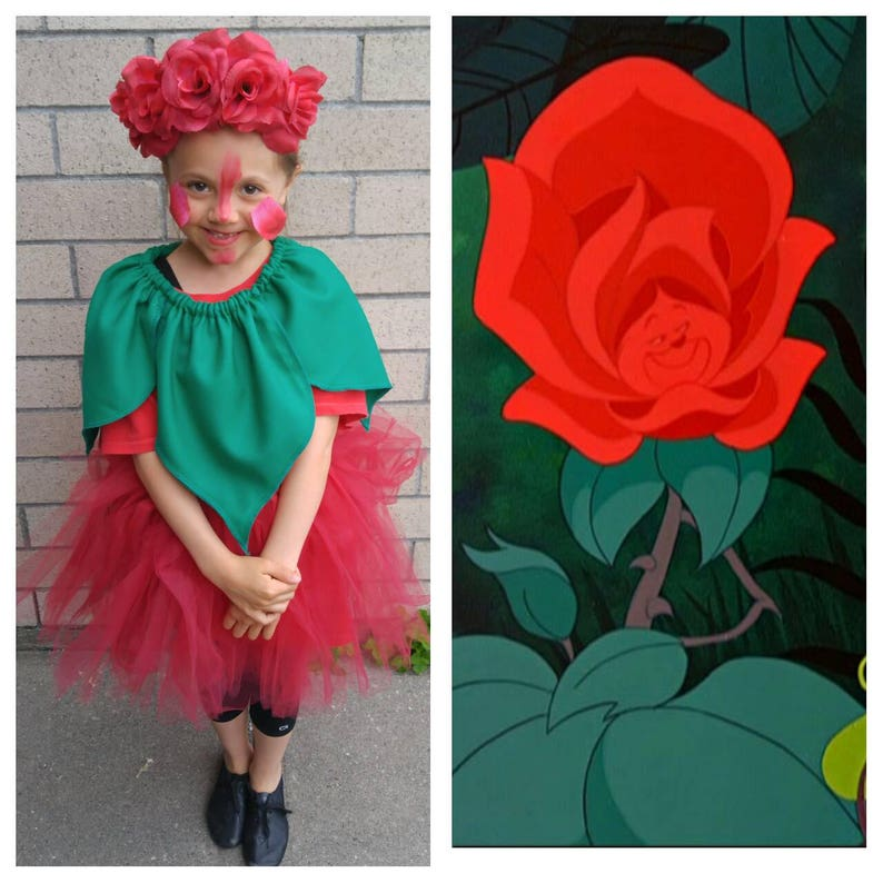 Alice in Wonderland Green Leaf Collar Accessory for Flower Costume Upcycled Clothing Youth Child Size Green Collar with elastic at neck