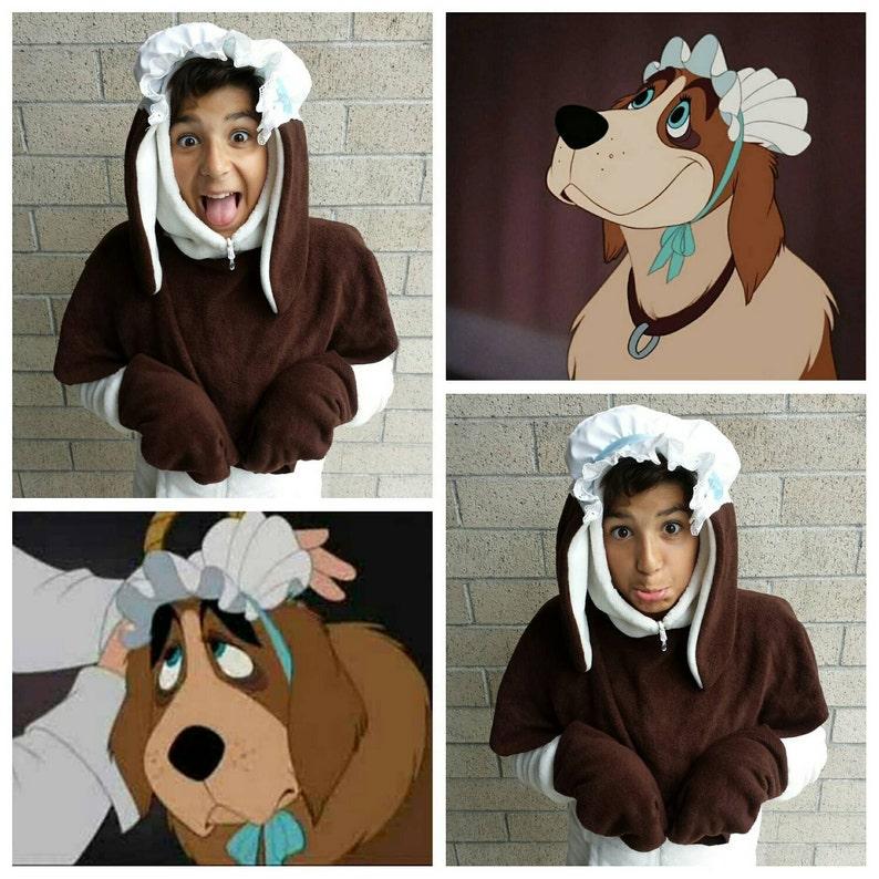 ec5c713b106 Upcycled Peter Pan Costume Nana Dog Costume Hooded Head