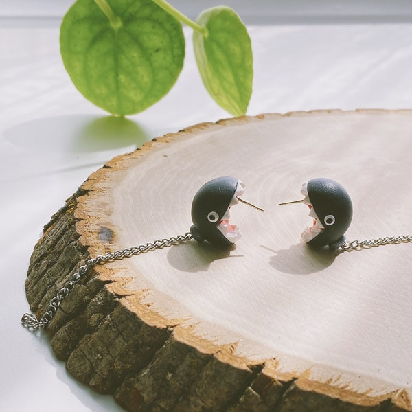 Chain Chomp Earrings  Stainless Steel  Super Mario image 1